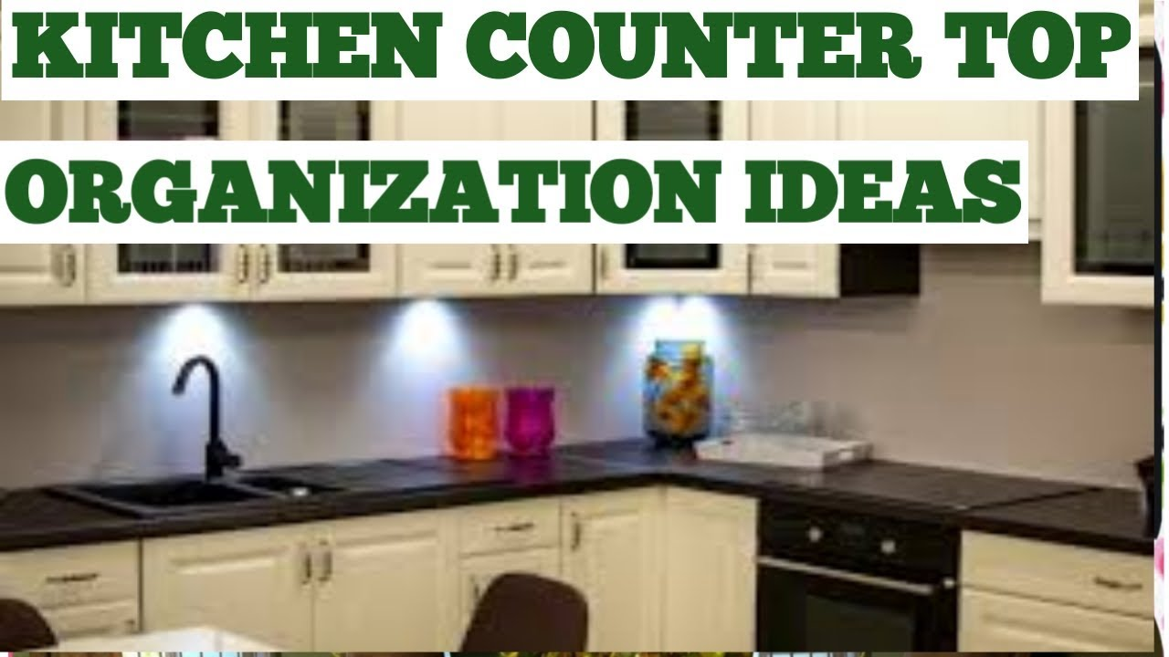Kitchen countertop organisation in telugu | countertop kitchen tips ...