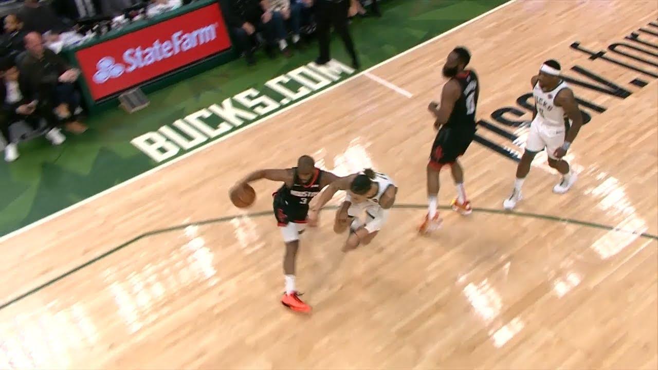 d92476194a35 Chris Paul s Nasty Crossover on DJ Wilson - Rockets vs Bucks