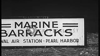 U.S. Marines conduct defensive training exercise at Pearl Harbor Naval Station, p...HD Stock Footage