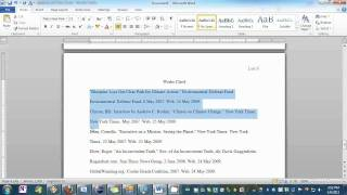 Setting your Essay to MLA Format in Word thumbnail