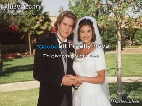 Saved by the Bell Wedding Song (When It's for You) Full Version With Lyrics (Karaoke)