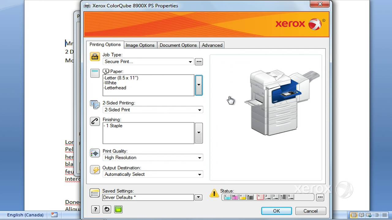 XEROX GLOBAL PRINT POSTSCRIPT DESCARGAR CONTROLADOR