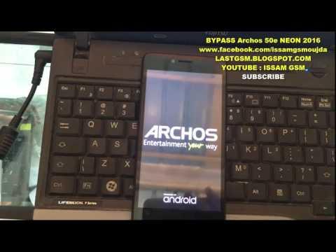 ARCHOS 50e NEON BYPASS GOOGLE ACCOUNT REMOVE FRP 2016