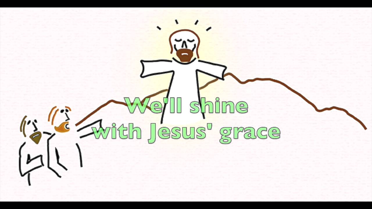 bible song jesus in his glory with words youtube