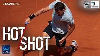 Hot Shot: Dimitrov Dazzles With Backhand Pass In Barcelona 2018