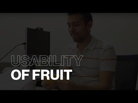 Usability Testing of Fruit