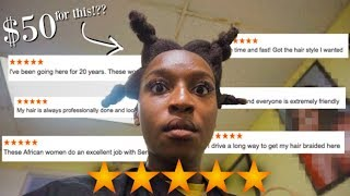 I WENT TO THE BEST RATED NATURAL HAIR SALON IN MY CITY! | Coco Chinelo