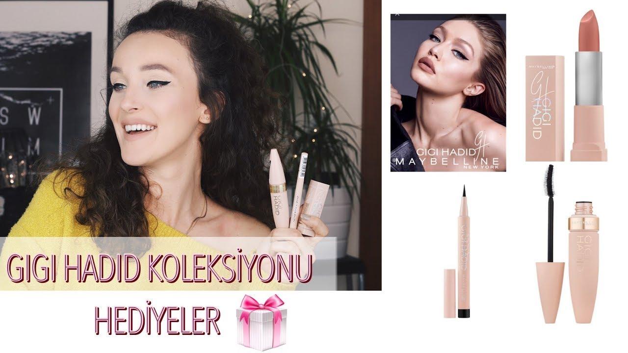Makyaj Gigi Hadid Koleksiyonu Maybelline Hediye Youtube