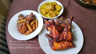 Brown Stew Peas Chicken Potato Curry Chicken Baked/grilled Bbq,honey Garlic Chicken