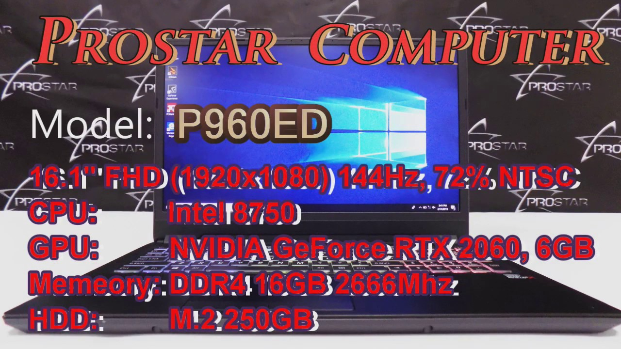"b76a4f15cc2b PROSTAR Presents P960ED 16.1"" Full HD (1920x1080) 144Hz, 72% NTSC Wide View  Angle, Matte Display"