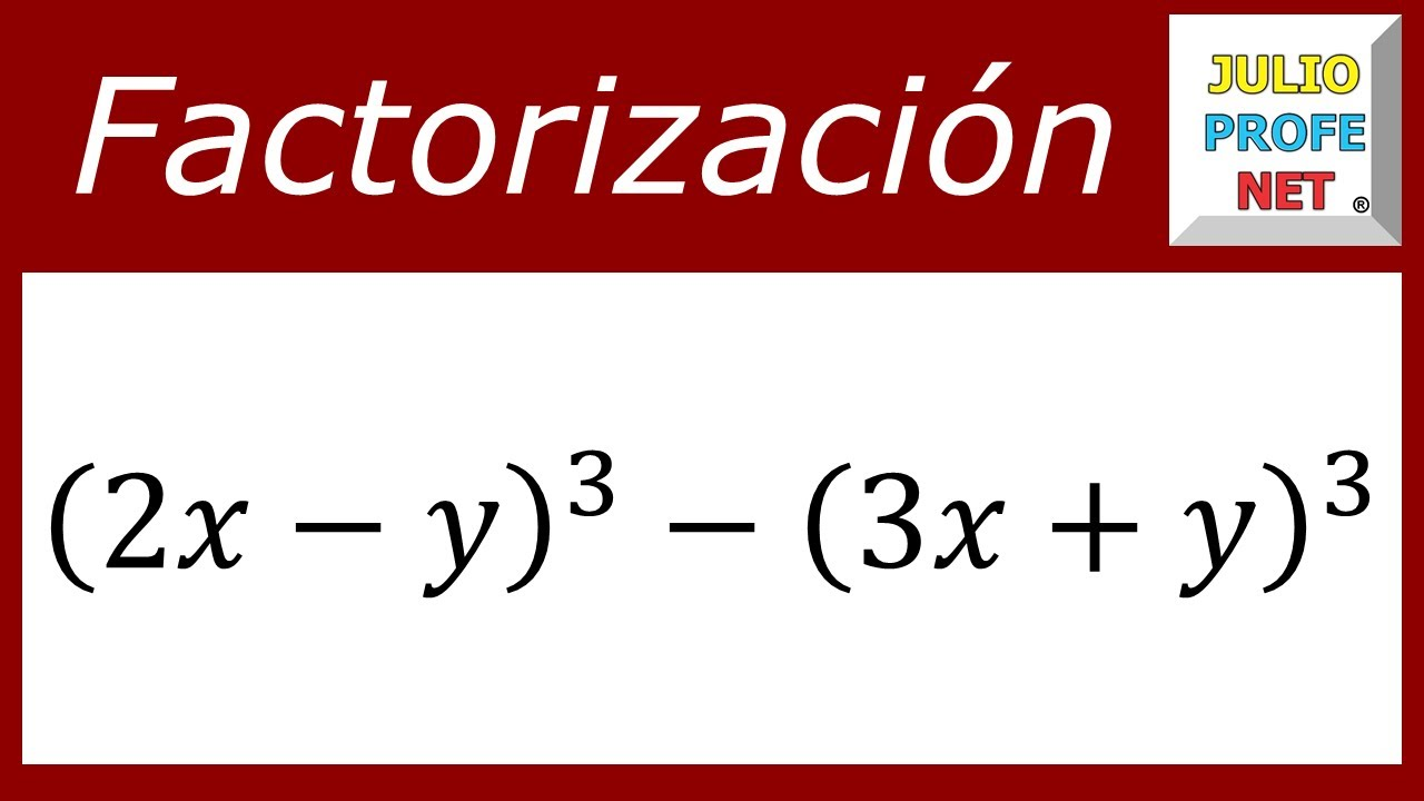 FACTORIZACIÓN DE UNA DIFERENCIA DE CUBOS PERFECTOS - Ejercicio 2