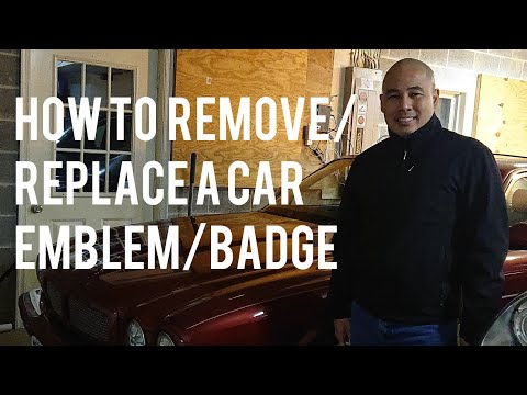 How to Remove/Replace Car Badge Emblem – Jaguar XJR