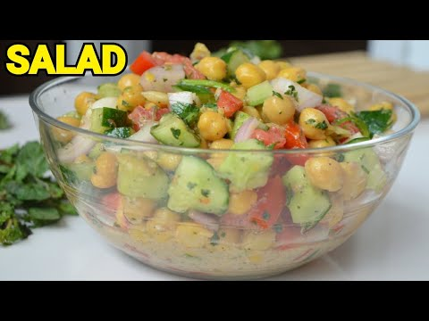 chana-salad-/-minty-chickpeas-salad-for-weight-loss-by-(yes-i-can-cook)