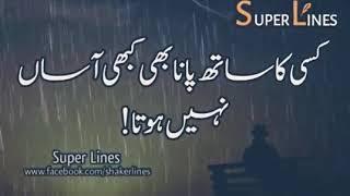 Kisi ka sath pana bhi kabhi aasaan nahi hota   . Kisi ke Door Jane Se ye dil weraan nahi hota