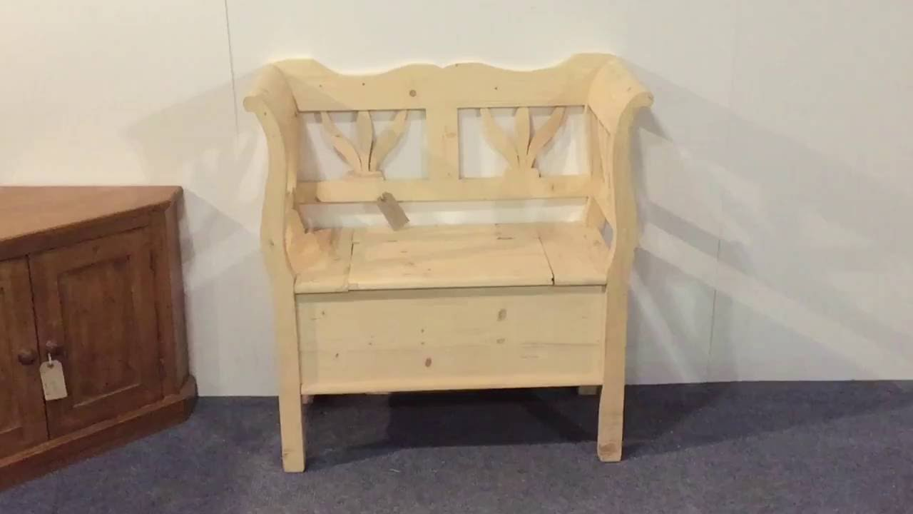 Small Pine Storage Bench   Pinefinders Old Pine Furniture