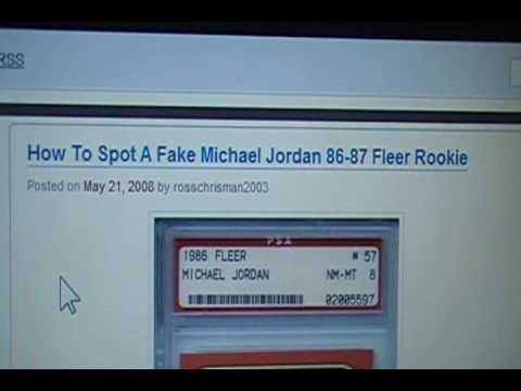 How To Spot A Fake Jordan Rookie Card