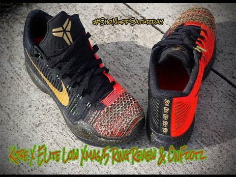 Kobe X Elite low Xmas/5 Rings Review & OnFootz #ShoNuffSaturday ...
