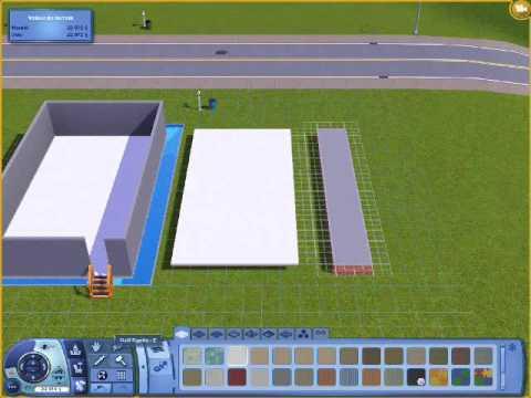 construire une maison au dessus d une piscine dans les sims 3