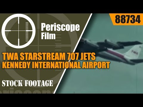 TWA STARSTREAM 707 JETS / KENNEDY INTERNATIONAL AIRPORT TERMINAL SILENT FILM 88734