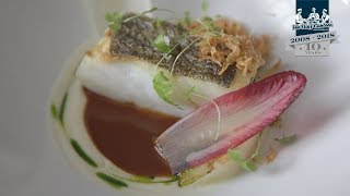 Michelin star chef Fred Clapperton, creates skrei cod, beef and sweetbreads and rhubarb recipes