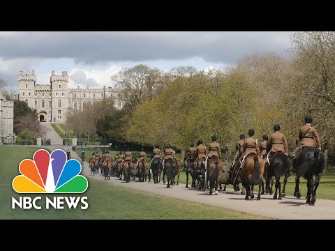 Military Rehearse Horse-Drawn Procession For Prince Philip's Funeral | NBC News NOW