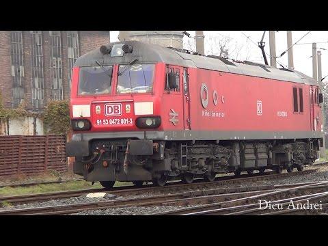 Electric locomotive British Rail Class 92 DB Shenker in Timisoara North Railway station