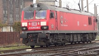 Electric locomotive British Rail Class 92 DB Shenker in Timisoara North Railway station