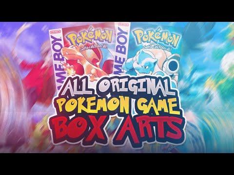 All Original Pokemon Game Box Arts - YouTube