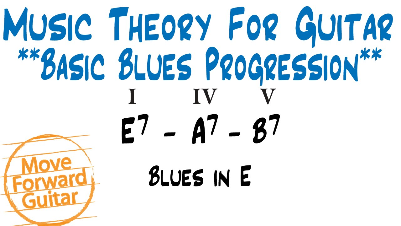 Music Theory For Guitar Basic Blues Chord Progressions Youtube