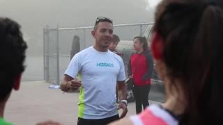Olympian Leo Manzano Surprises His Old High School With New HOKAs