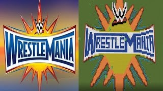 Minecraft - WWE Wrestlemania 33 Logo
