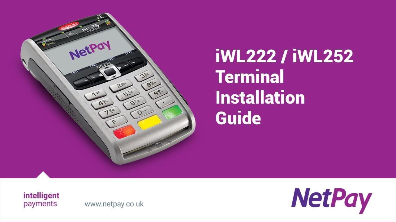 How to set up an Ingenico iWL222 or iWL252