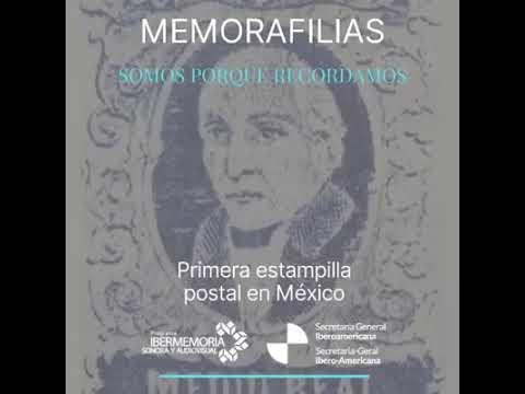 Primera estampilla postal en México