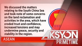 ASEAN, nababahala sa land reclamation activities sa WPS