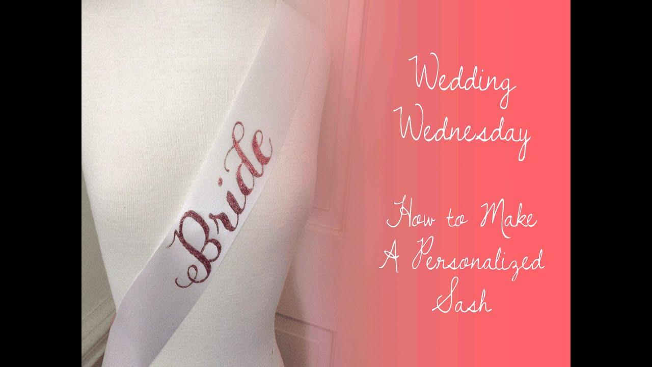 Diy bride to be sash youtube solutioingenieria Gallery