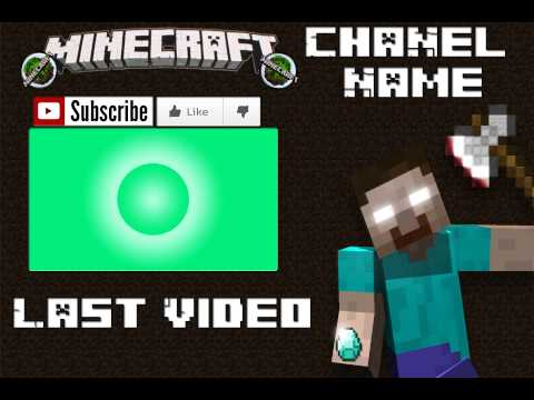 Minecraft Outro Template! | Free Download! | New & Updated! | [PSD] Photoshop
