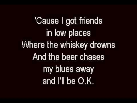 Garth Brooks - Friends In Low Places - Karaoke