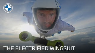 homepage tile video photo for The Electrified Wingsuit | #BornElectric | BMW USA
