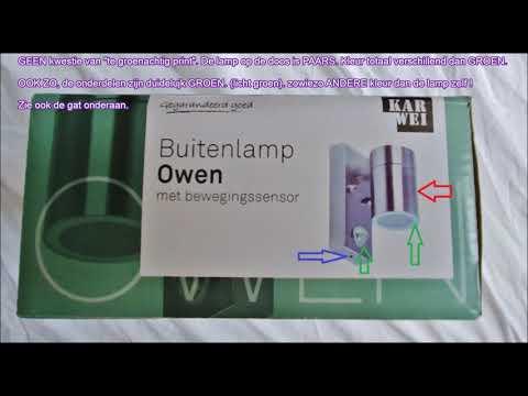 Karwei buitenlamp Owen 1lichts met bewegingssensor = kat in de zak, pure oplichterij