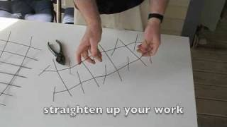 Make Your Own BIRD SPIKE STRIPS from Old Fencing