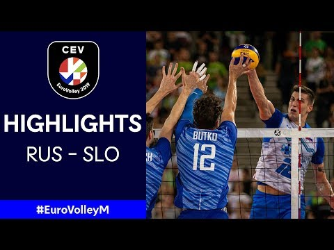 #EuroVolleyM | Russia - Slovenia | QF Highlights