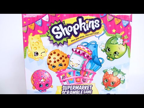 Shopkins Supermarket Scramble Game from Pressman Toy