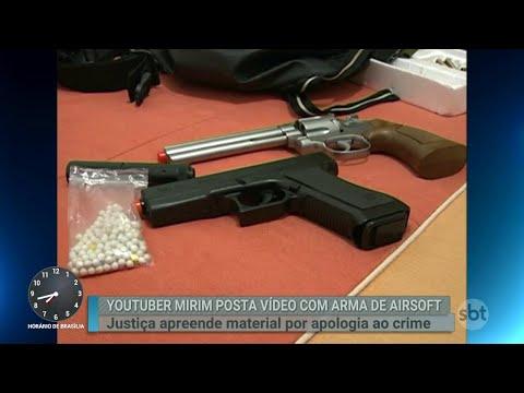 Justiça manda apreender armas de youtuber por apologia ao crime | Primeiro Impacto (16/08/18)