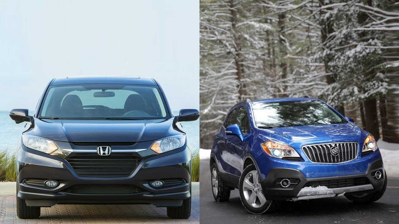 2016 honda hr v vs 2016 buick encore youtube for Buick encore vs honda hrv