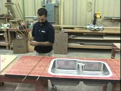Edge Sink Install In Laminate   Bondo Method