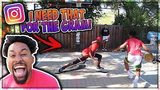 "I BROKE HIS ANKLES! ""I Need That For The Gram"" Basketball Challenge 