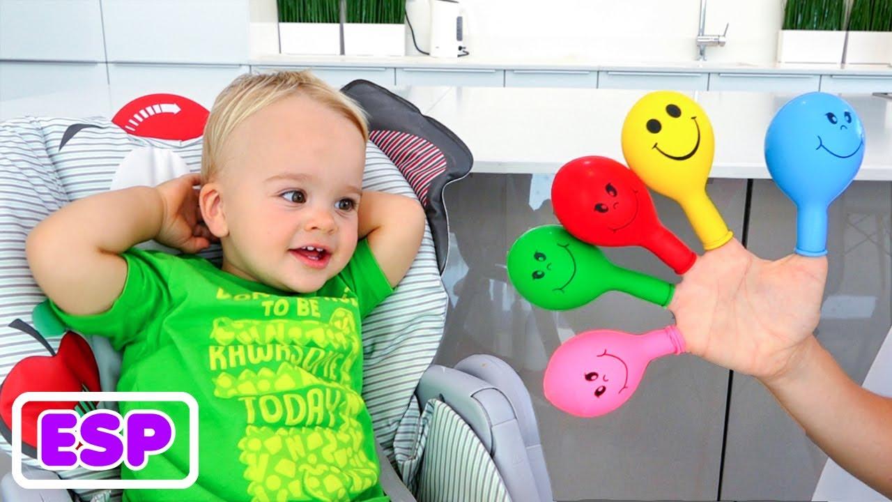 Vlad y Niki aprendiendo colores con globos