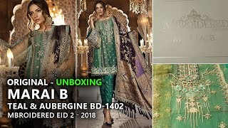 c1dd5c16e6 Maria B Festive Collection 2018 - Unbox Teal & Aubergine BD02 - Pakistani  Branded Dresses by Sara Clothes