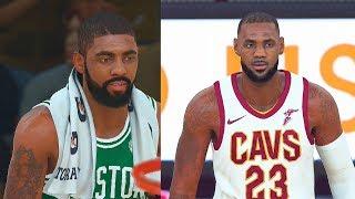 NBA 2K18 CAVALIERS VS CELTICS FULL GAMEPLAY 5 VS 5! LEBRON JAMES VS KYRIE IRVING!