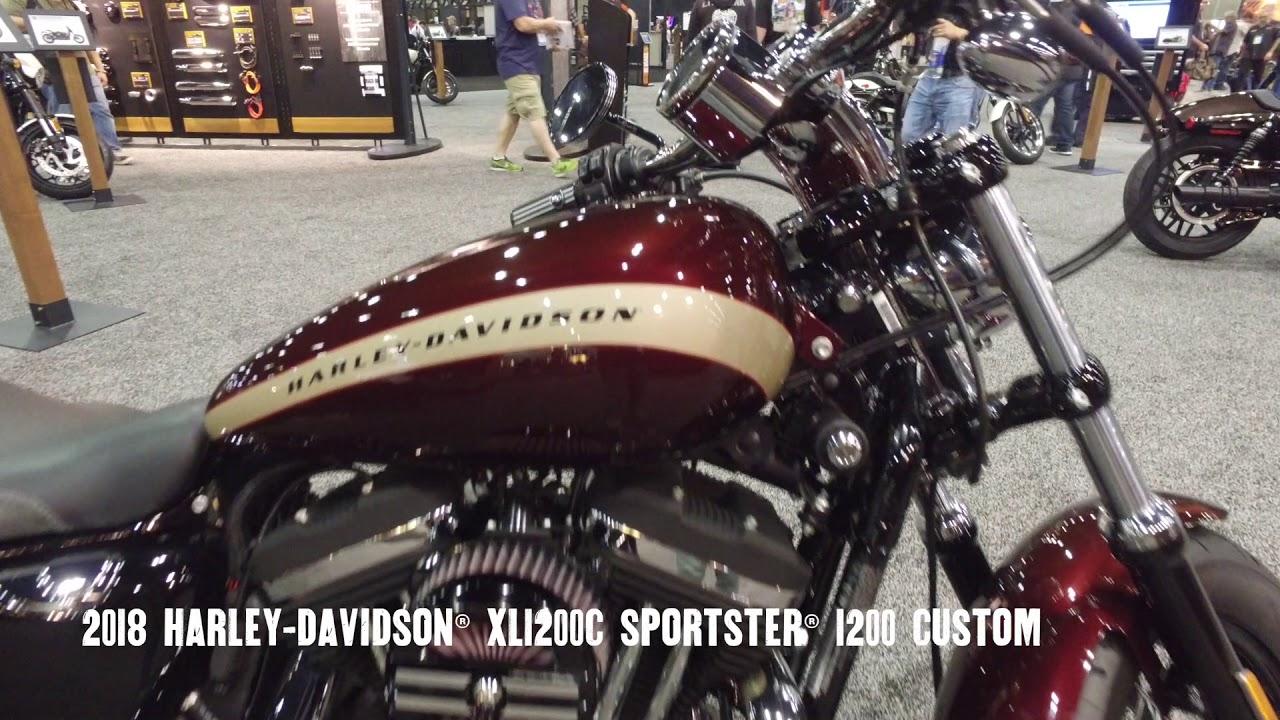 2018 Harley-Davidson XL1200C Sportster 1200 Custom - YouTube